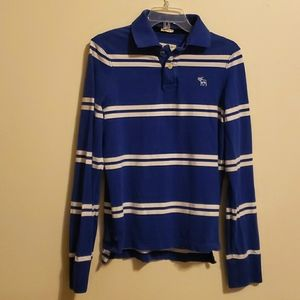 Abercrombie & Fitch,Long Sleeve Polo Shirt, Small